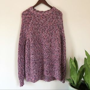 Altard State fuzzy knit sweater small size purple